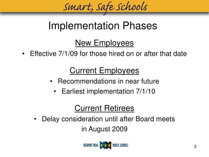 Implementation phases