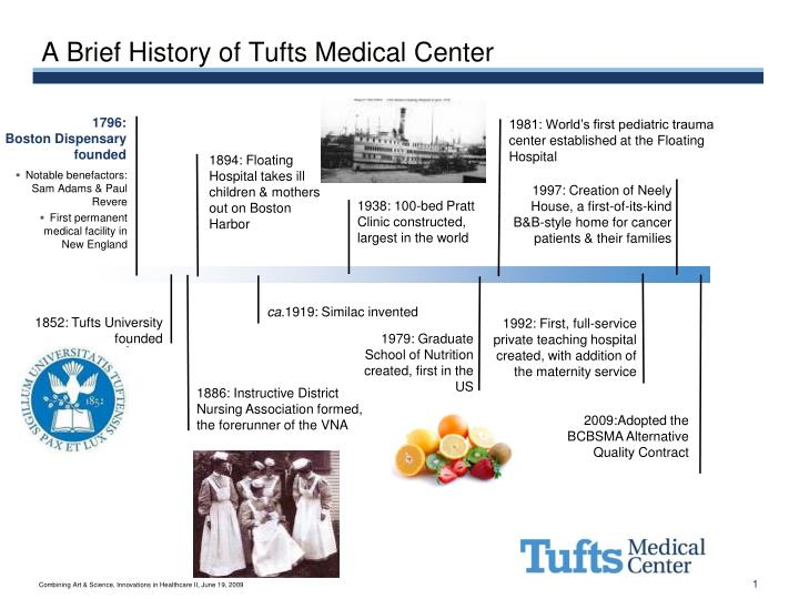 a brief history of tufts medical center n.