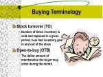 buying terminology