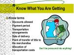know what you are getting