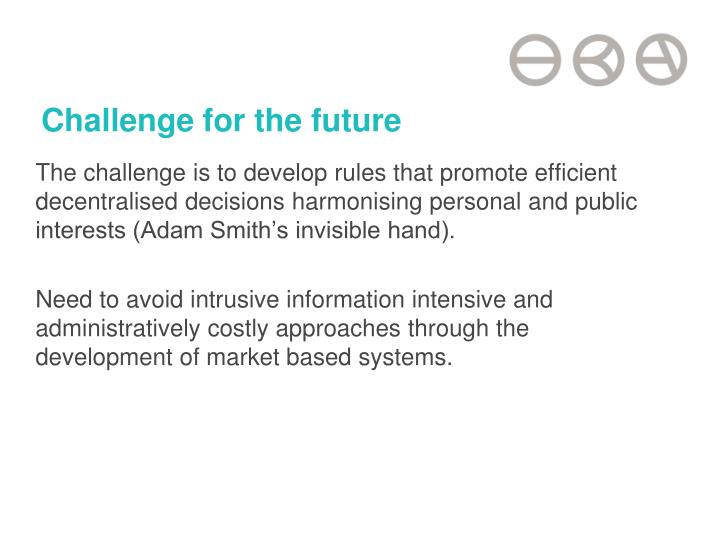 Challenge for the future