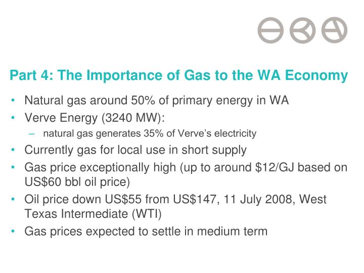 Part 4: The Importance of Gas to the WA Economy