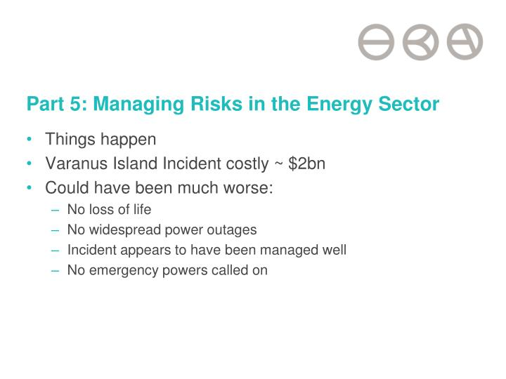 Part 5: Managing Risks in the Energy Sector