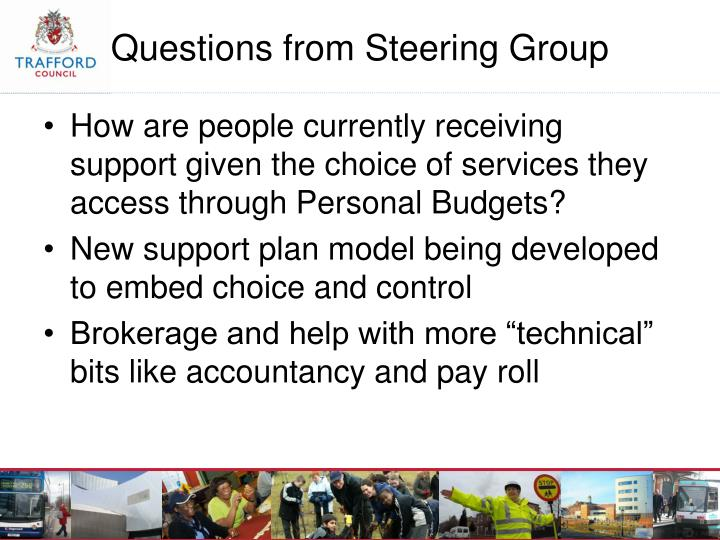 How are people currently receiving support given the choice of services they access through Personal Budgets?