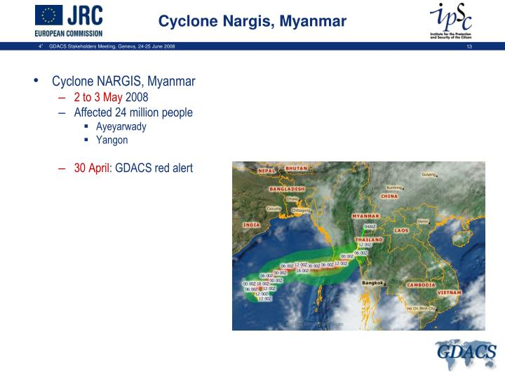 Cyclone NARGIS, Myanmar
