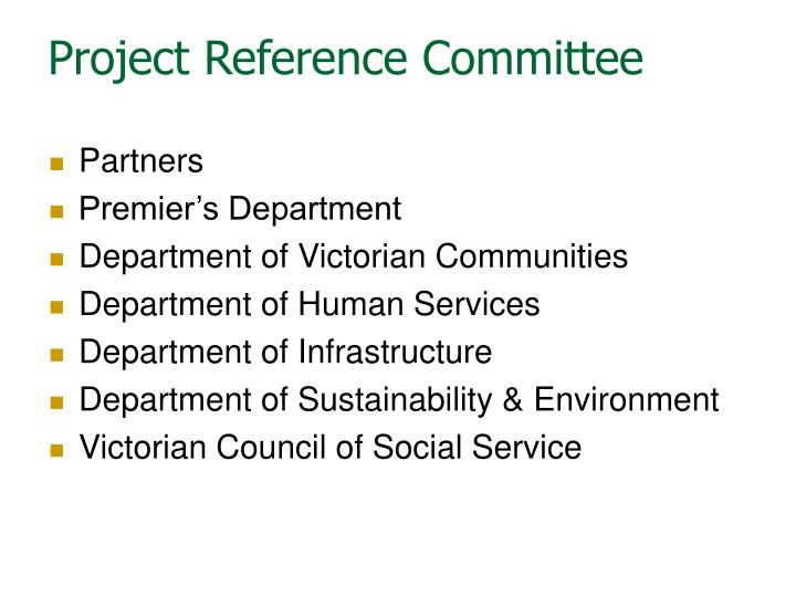 Project Reference Committee
