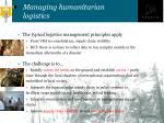 managing humanitarian logistics1