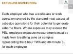 exposure monitoring