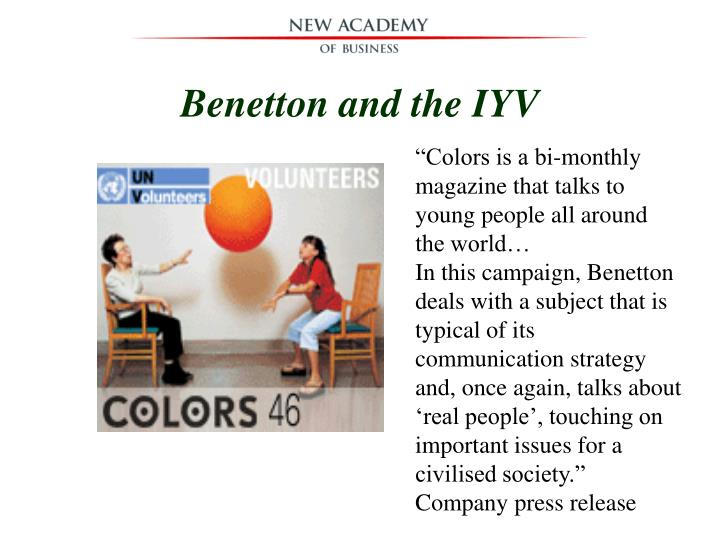 Benetton and the IYV