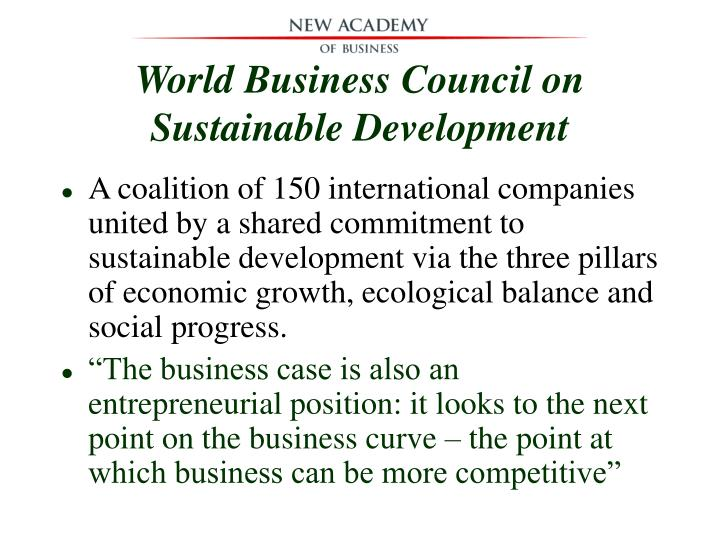 World Business Council on Sustainable Development