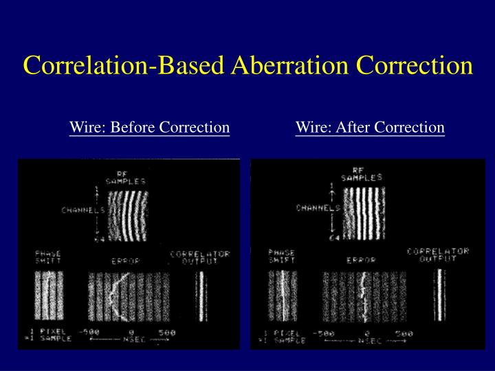 Correlation-Based Aberration Correction