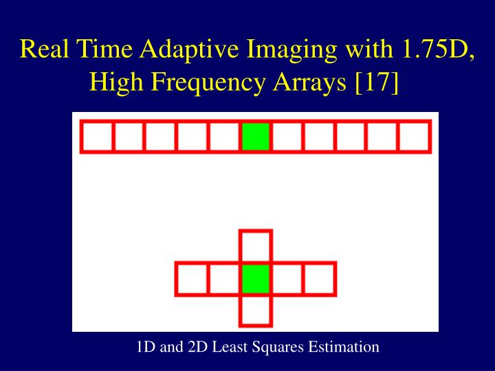 Real Time Adaptive Imaging with 1.75D, High Frequency Arrays [17]