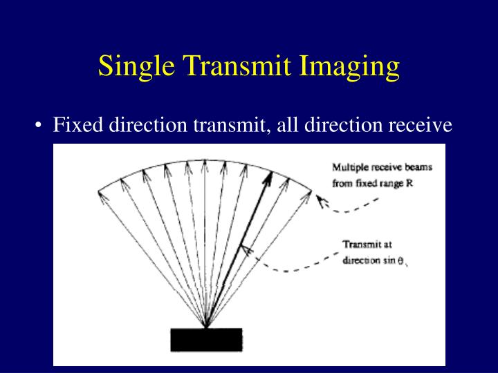 Single Transmit Imaging