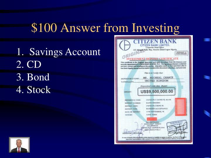 $100 Answer from Investing