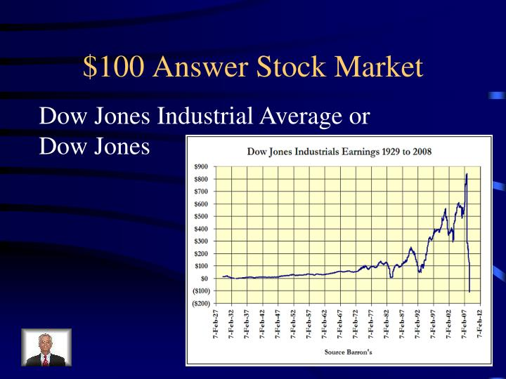 $100 Answer Stock Market