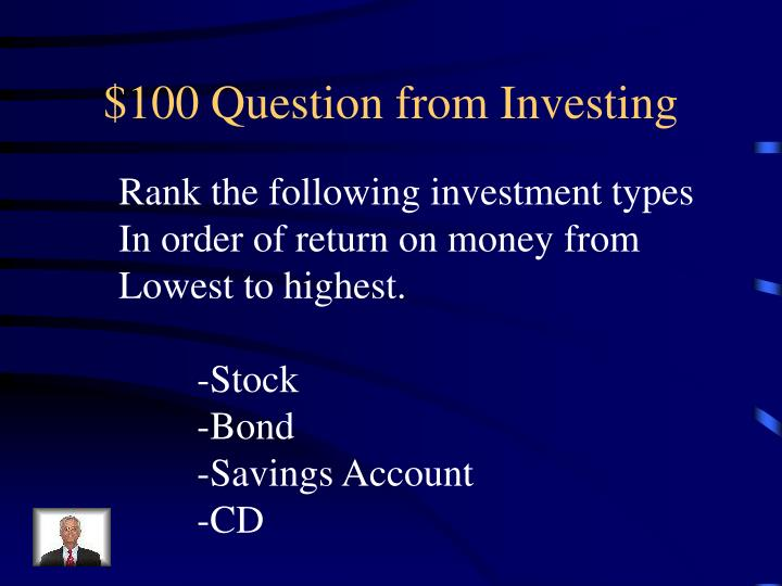 $100 Question from Investing