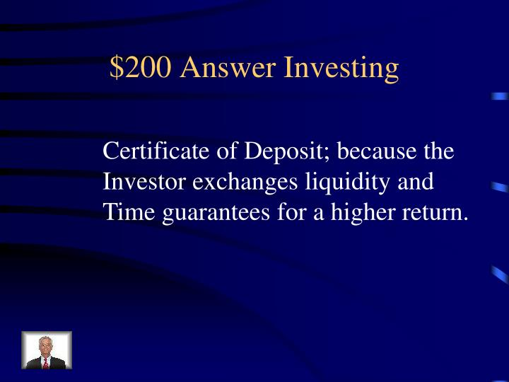$200 Answer Investing