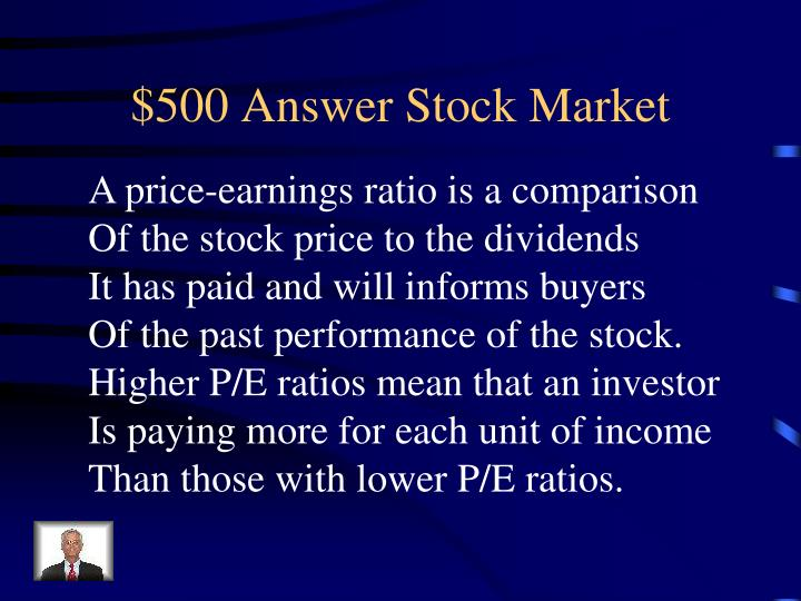 $500 Answer Stock Market