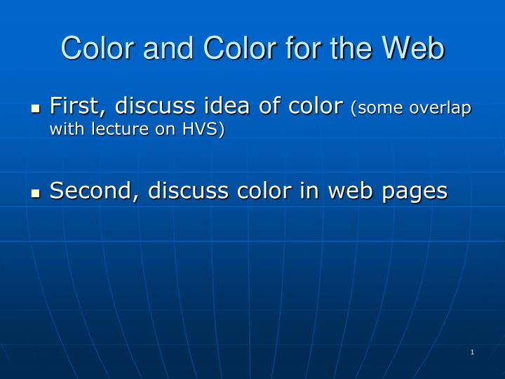 color and color for the web n.