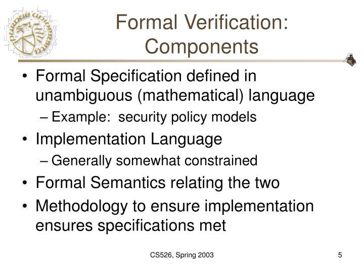Formal Verification: