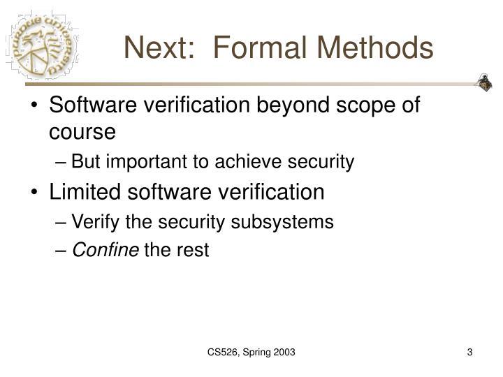 Next formal methods