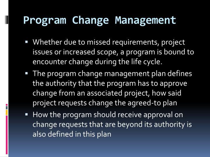 Program Change Management