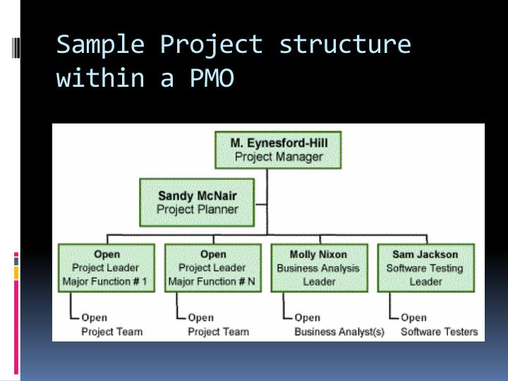 Sample Project structure within a PMO