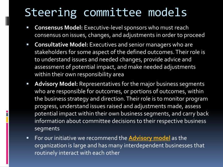 Steering committee models