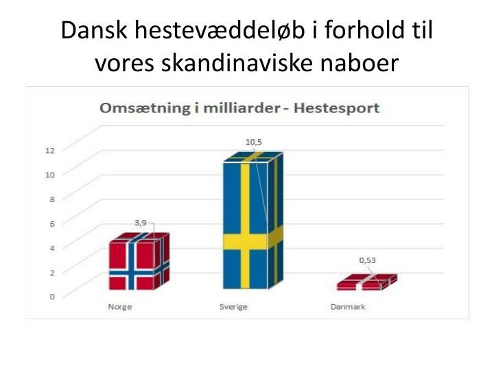 Dansk hestevæddeløb i forhold til vores skandinaviske naboer