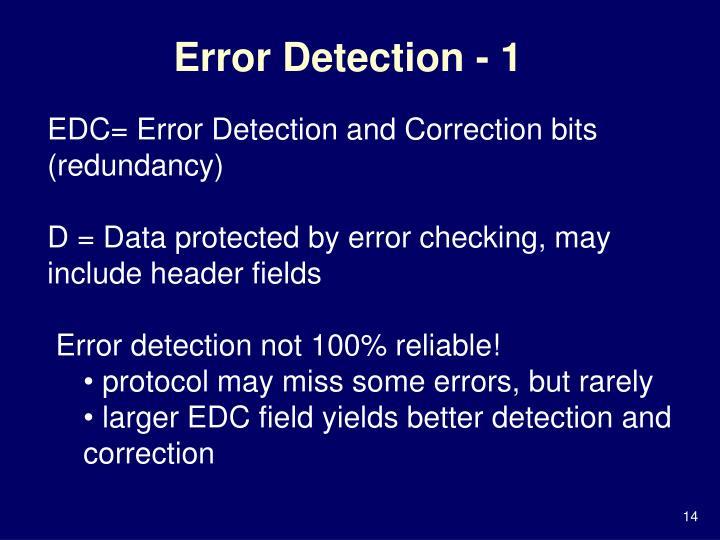 Error Detection - 1