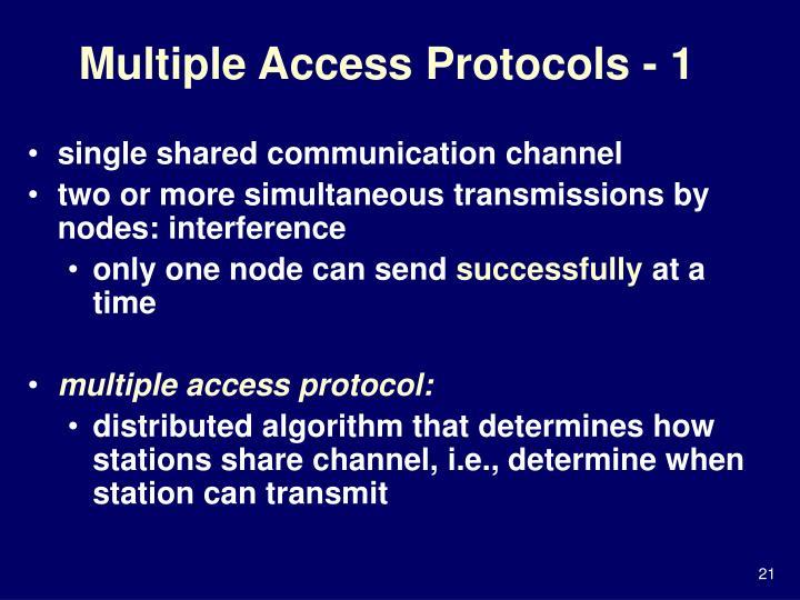 Multiple Access Protocols - 1