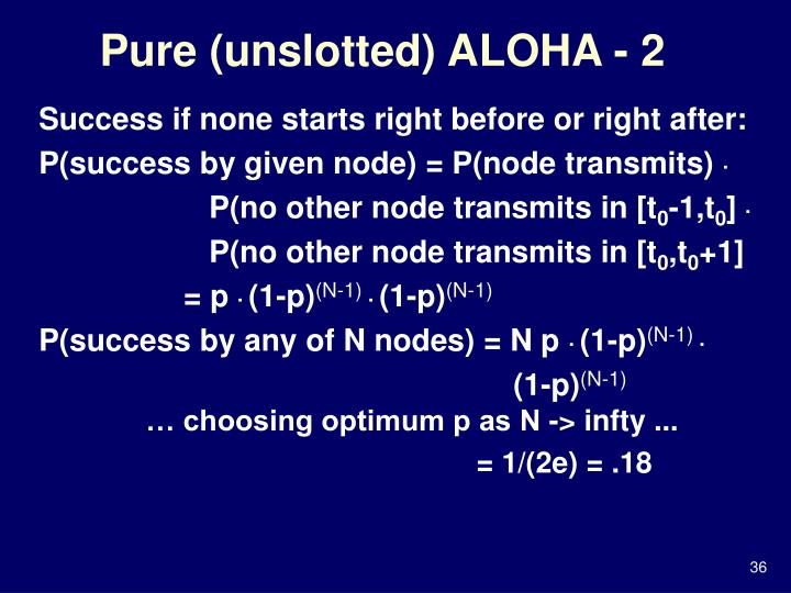 Pure (unslotted) ALOHA - 2