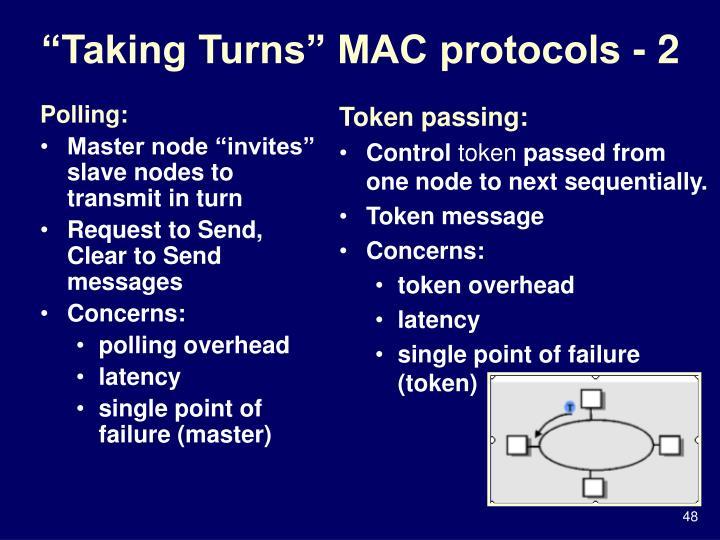 """Taking Turns"" MAC protocols - 2"