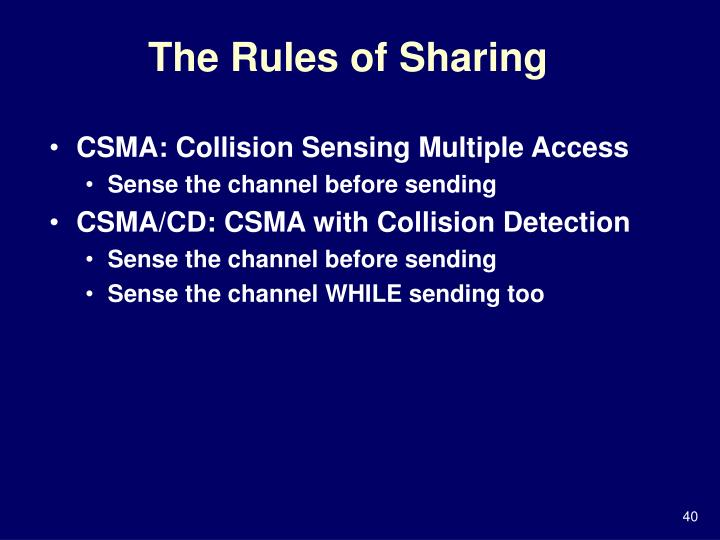The Rules of Sharing