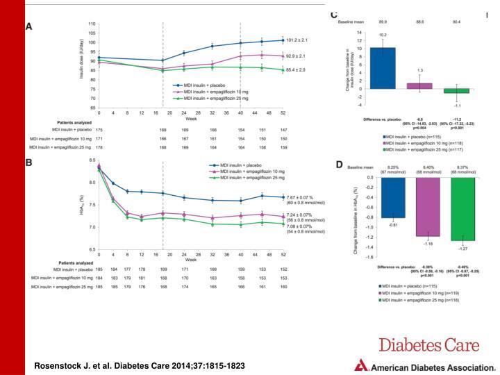 Rosenstock J. et al. Diabetes Care 2014;37:1815-1823