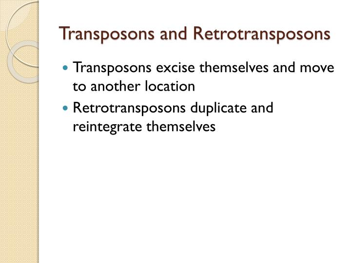 Transposons and