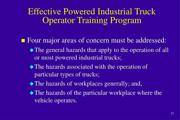 Effective Powered Industrial Truck Operator Training Program