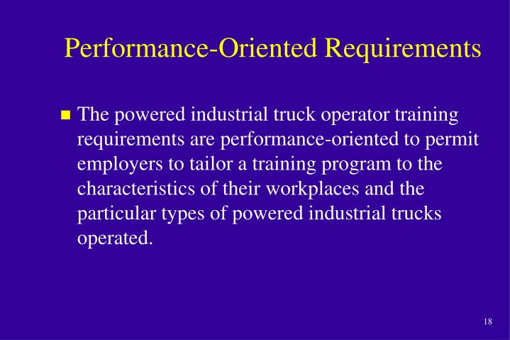 Performance-Oriented Requirements