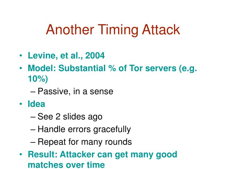 Another Timing Attack