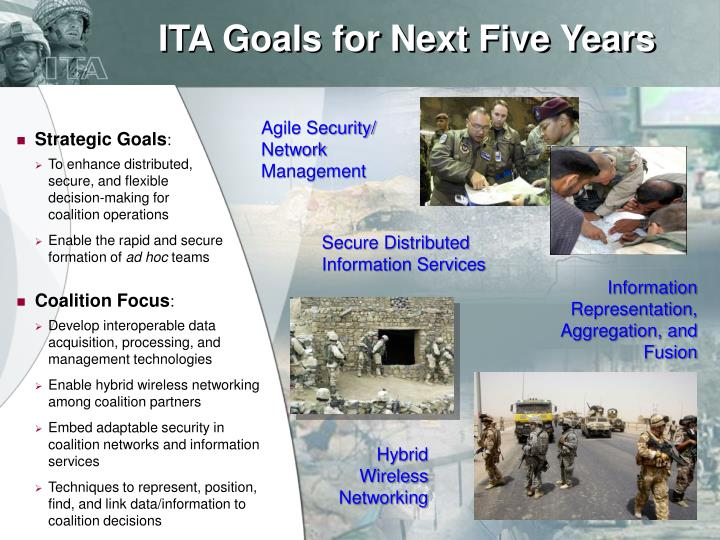 ITA Goals for Next Five Years