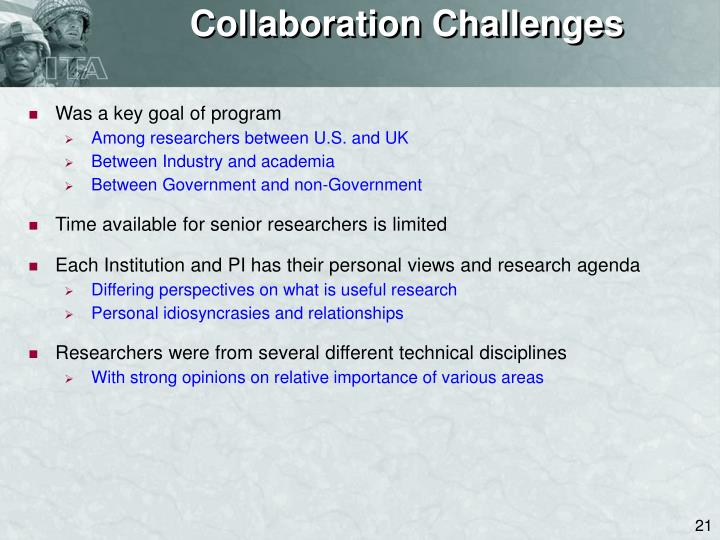 Collaboration Challenges