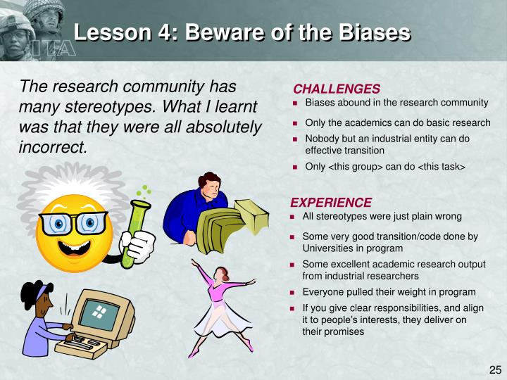Lesson 4: Beware of the Biases