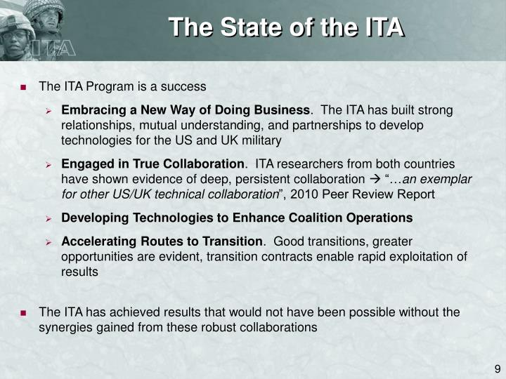 The State of the ITA