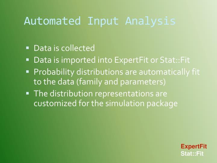 Automated Input Analysis