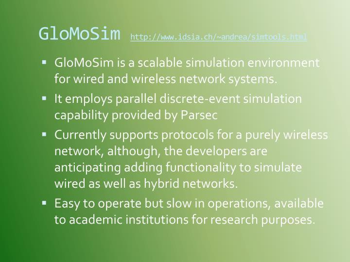 GloMoSim