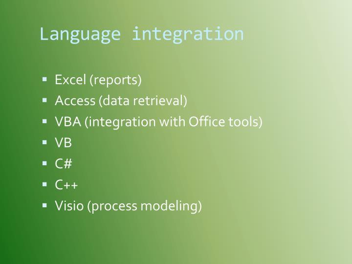 Language integration
