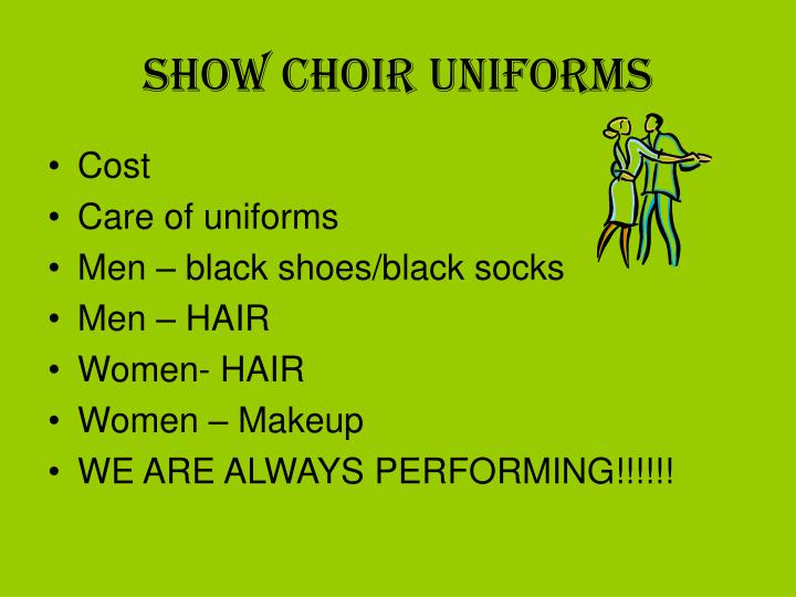 Show Choir Uniforms