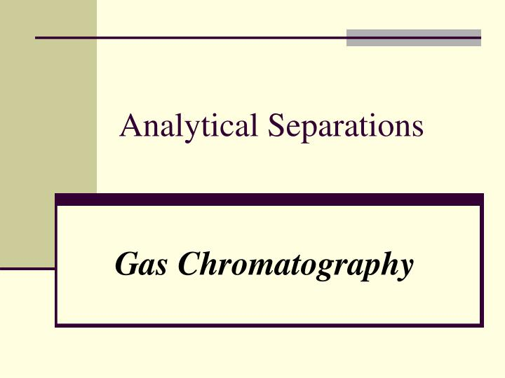 analytical separations n.