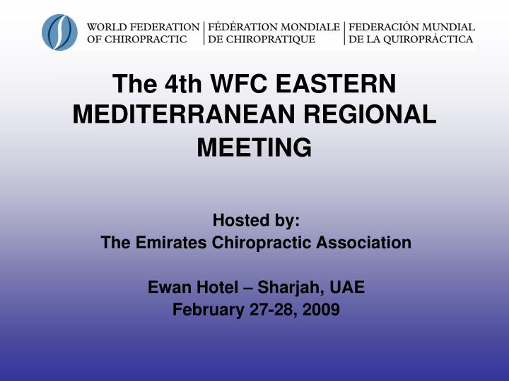 the 4th wfc eastern mediterranean regional meeting n.