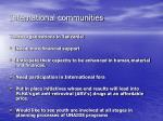 international communities